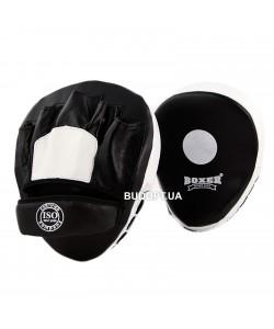 Лапы боксерские гнутые Boxer, кожа