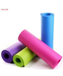 Коврик-Мат для йоги и фитнеса Hop-Sport 1 см из вспененного каучука (NBR)