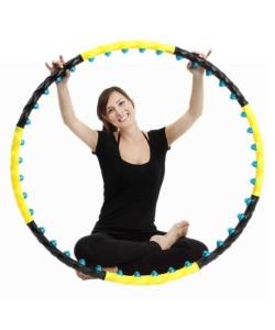 Обруч массажный Hop-Sport 6001 c шариками (хула хуп)