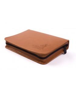 Чехол (кошелек) для блесен кожаный Kibas Catch Brown L