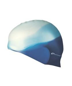Силиконовая шапочка для купания Abstract Spokey 83947 бело-синяя