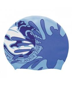 Силиконовая шапочка для плавания Spokey Stylo, синяя