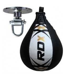 Пневмогруша боксерская RDX Leather White Pro
