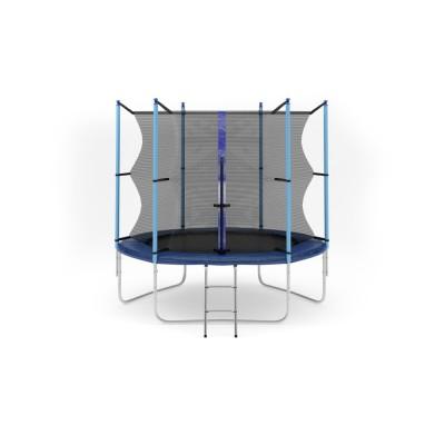 Батут с лестницей Hop-Sport 8FT (244 см) с внутренней сеткой