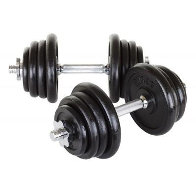 Гантели чугунные Hop-Sport 2х20 кг
