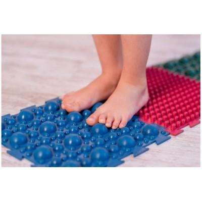 Детский массажный коврик пазл для стоп (ортопедический, резиновый) 8 шт