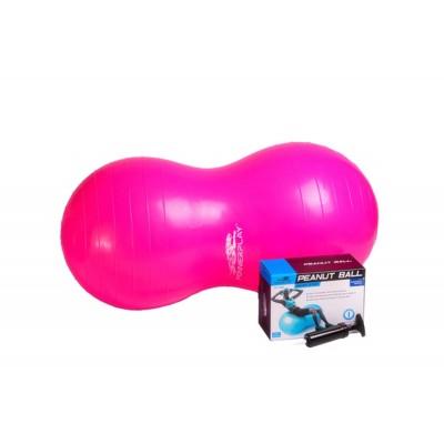 Мяч гимнастический - орех PowerPlay 4004 90х45см + насос