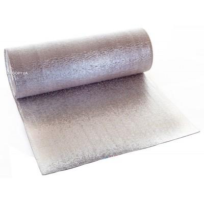 Вспененный полиэтилен фольгированный с двух сторон 3 мм (полотно фольгированное с двух сторон 3мм)