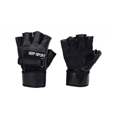 Перчатки для фитнеса Hop-Sport кожаные