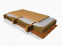 Гидроизоляция перекрытий деревянного пола и плит