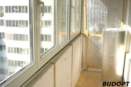 Утепление балкона фольгированным пенополиэтиленом