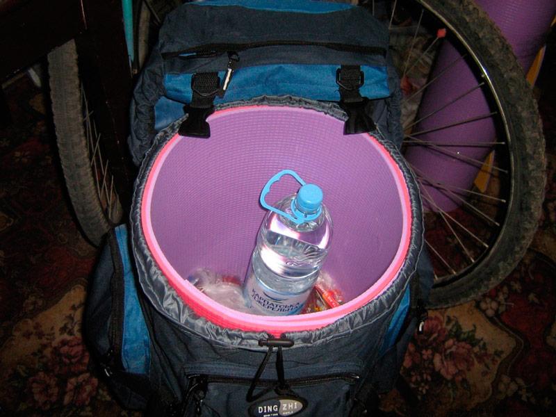 Укладка каремата в туристический рюкзак