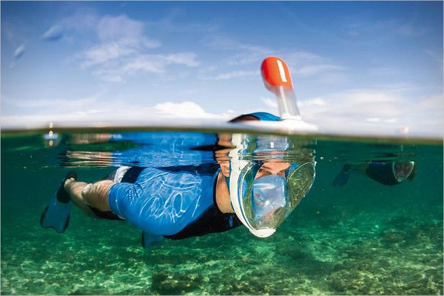 Панорамная маска для плавания
