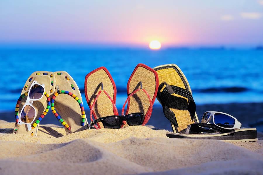 Шлепки для пляжа