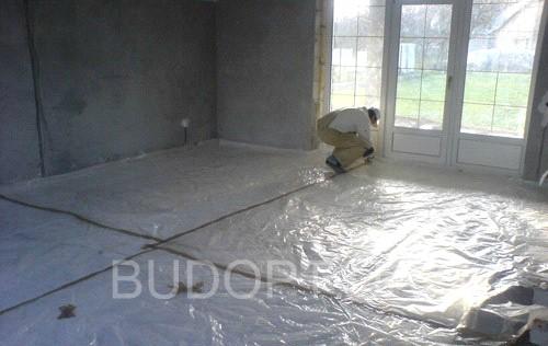 Подготовка бетонного пола к утеплению